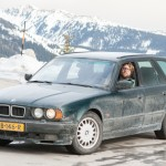 BMW e34 540i Touring snow