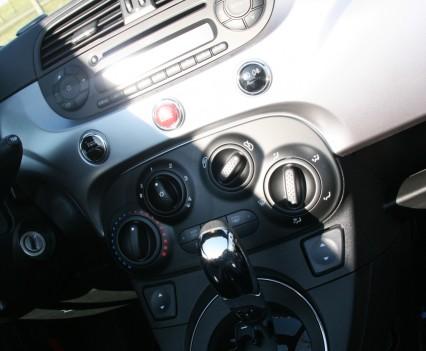 Fiat 500S Cabrio Middenconsole