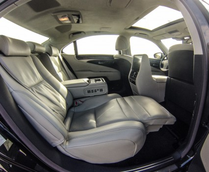 Lexus LS600h L backseat