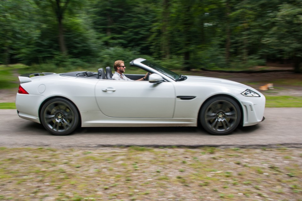 Jaguar XKR-S Convertible Side White