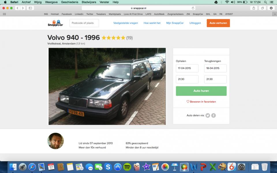 SnappCar Volvo 940