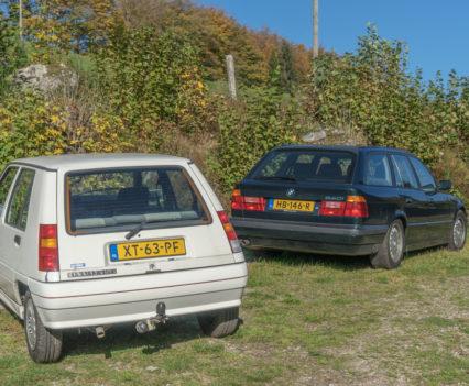 Renault R5 GTX BMW E34 540i Touring Vogezen